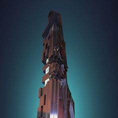 Space tower - top by siriandil Digital Cinema, Art 3d, Cinema 4d, Modeling, Sci Fi, Tower, Fantasy, Texture, Space