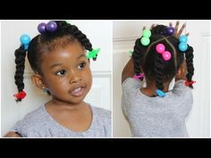 Quick Natural Hairstyles Little Girl Natural Hairstyles : Neat And Simple Styles For Your Girls - Yo Best Hairstyle For Kids, Little Girls Natural Hairstyles, Hairdos For Curly Hair, Lil Girl Hairstyles, Natural Hairstyles For Kids, Kids Braided Hairstyles, Cool Hairstyles, Natural Hair Styles, Toddler Hairstyles