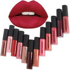 New Maange Lip Makeup 3pcs Long Lasting Waterproof Matte Liquid Lip Gloss Kit Lipstick Cosmetic Tool Lip Glaze Highly Polished Lipstick Beauty Essentials