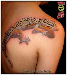 Tatuagem de Lagarto , Lizard Tattoo by Pablo Dellic in Oslo - Norway by Pablo Dellic , via Flickr