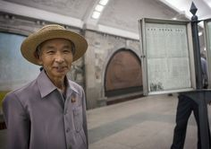North Korean Man With A Hat In The Subway, Pyongyang, Nort… | Flickr