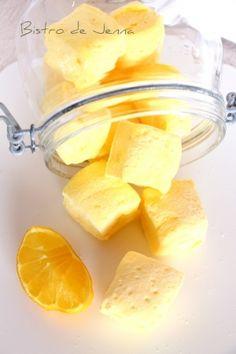 Guimauves au citron - Le sirop de glucose peut être substitué par du miel au goût neutre