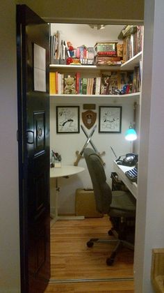 Closet Turned Craft/office Space. | Craft Room | Pinterest | Office Spaces,  Spaces And Playrooms