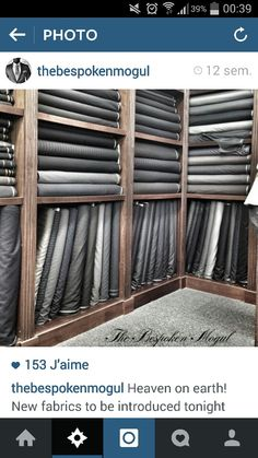 A great fabric store - what is your best suit colour ?