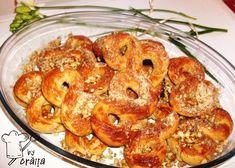 Aripioare de pui in sos dulce picant Tzatziki, Cooking Time, Bagel, Cauliflower, Shrimp, Bread, Vegetables, Kitchens, Pork