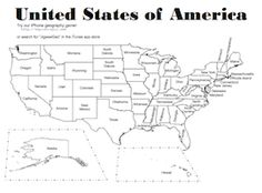 Free Printable United States Of America Usa Map Includes Two Pages One