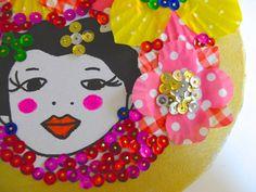 Le tableau Frida en sequins