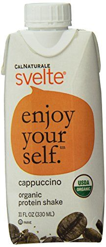 CalNaturale Svelte Organic Protein Shake, Cappuccino, 11 Ounce, 18 Count * Visit the image link more details.