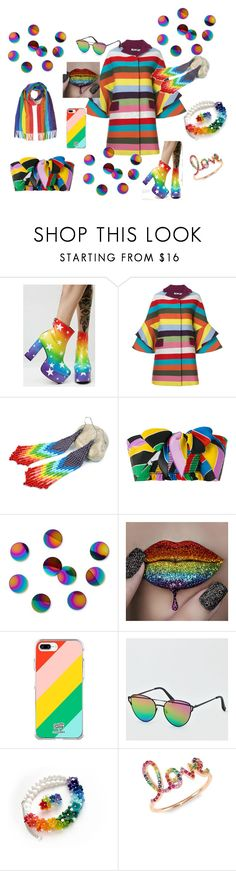"""""""Rainbow girl"""" by ivonahmjewelry on Polyvore featuring мода, Current Mood, Mary Katrantzou, Philosophy di Lorenzo Serafini, Umbra, Fifth & Ninth, American Eagle Outfitters и Sydney Evan"""