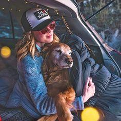 Mother - doggo bonding.  #campingwithdogs @natewyeth