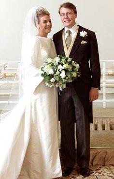 Prins Constantijn af Holland og Prinsesse Laurentien på deres bryllupsdag den 19. maj 2001.