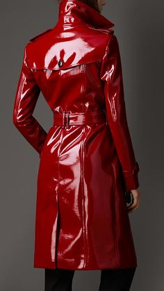 Long Patent-Finish Trench Coat | Burberry