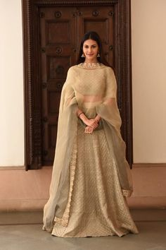 Lehenga Choli in pastel shades.