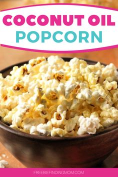 Are you looking for easy and delicious low-calorie snacks? This Low-Calorie Popcorn with Coconut Oil recipe is a super simple yet incredibly delicious low-calorie recipe you can whip up in about four minutes. To make popcorn cooked in coconut oil, all you need is coconut oil, organic popcorn kernels, and sea salt. That's it! #lowcalorierecipes #lowcaloriesnacks #coconutoiluses #popcornrecipes Low Calorie Popcorn, Low Calorie Snacks, Low Calorie Recipes, Diabetic Recipes, Healthy Meals For Kids, Kids Meals, Toddler Meals, Coconut Oil Popcorn, Low Fat Chicken Recipes