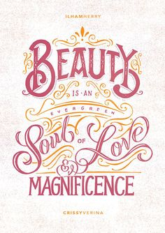 Beauty by Illham Herry #lettering #calligraphy #typographydesign #illustrationart #graphicdesign