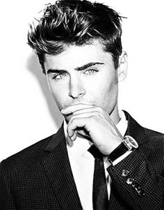 Zac Efron. I like the black and white with the high level of contrast.