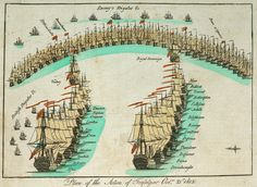 Plan of the action at the Battle of Trafalgar, 21 October 1805.