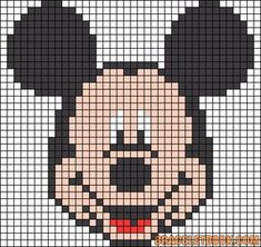 Alpha friendship bracelet pattern added by mickey head mouse disney. Perler Patterns, Loom Patterns, Beading Patterns, Crochet Patterns, Crochet Pixel, Graph Crochet, Bead Crochet, Cross Stitch Charts, Cross Stitch Patterns