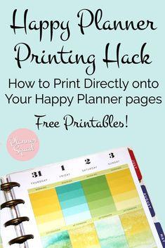 Happy Planner Printing Hack