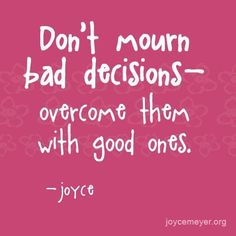 Discover and share Power Thoughts Joyce Meyer Quotes. Explore our collection of motivational and famous quotes by authors you know and love. Guilt Quotes, Motivacional Quotes, Motivational Thoughts, Positive Quotes, Inspirational Quotes, Positive Thoughts, Decision Quotes, Bad Decisions Quotes, Bad Choices Quotes