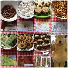 We're going on a Bear Hunt! buffet (via Bookends Carlisle & Bookends Keswick) 3rd Birthday Cakes, Bear Birthday, 3rd Birthday Parties, Birthday Ideas, Kids Party Themes, Party Ideas, Bear Theme, Bear Party, First Birthdays