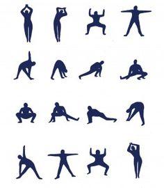36 afbeeldingen op yoga schema's tine blijft de beste