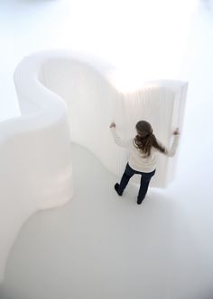 molo design · white textile softwall + space partition