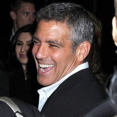 George Clooney always rocking a fabulous smile!