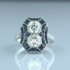 Art Deco Diamond, Art Deco Ring, Diamond Jewelry, Antique Jewelry, Vintage Jewelry, Art Nouveau Jewelry, Art Deco Era, Art Deco Design, Art Deco Fashion