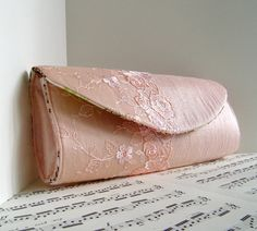 Your place to buy and sell all things handmade Pink Clutch, Clutch Purse, Pink Silk, Blush Pink, Wedding Clutch, Lace Overlay, Sunglasses Case, Peach, Delicate