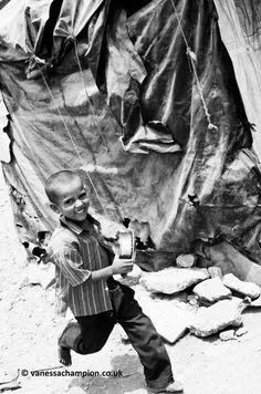 The slums in Mumbai, I was accompanying the charity Born to be Beautiful and Vision Rescue