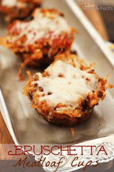 Bruschetta Meatloaf Cups ~ Meatloaf loaded with Stuffing Mix, Diced Tomatoes, Cheese & Garlic!