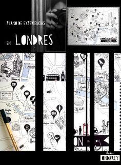 Plano de Londres // Illustrated London map