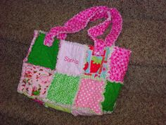 My Fabric Obsession: Flannel Rag Quilt Purse Tutorial