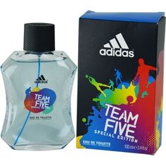 Launched by the design house of Adidas in 2013, ADIDAS TEAM FIVE by Adidas for Men posesses a blend of:  It is recommended for  wear.