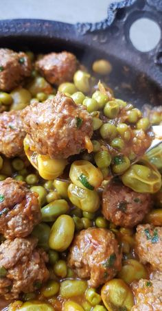 Kefta tagine with peas and beans Source by ouledjamaa Lunch Recipes, Healthy Dinner Recipes, Cooking Recipes, Healthy Breakfast Potatoes, Morrocan Food, Tunisian Food, Algerian Recipes, Ramadan Recipes, Ramadan Food
