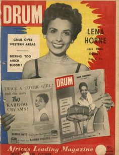 Drum Magazine, 1950s - Lena Horne cover