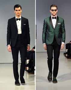 Green tuxedo: GQ Editors' Picks from New York Fashion Week 2013: Fashion Shows: GQ