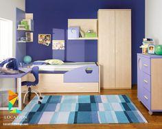 غرف نوم اطفال باللون الأزرق  بدهانات مميزة