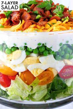 Salad Recipe - The Anthony Kitchen Potluck Recipes, Side Dish Recipes, Veggie Recipes, Salad Recipes, Cooking Recipes, Veggie Food, Cooking Tips, Soup Recipes, Dessert Recipes