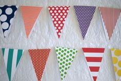 card stock pennant bunting