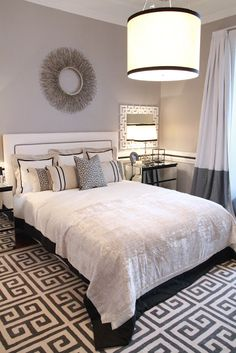 """Ana Antunes Home Styling """"The Infinity Bedroom Suite"""" - for Querido Mudei a Casa Tv Show - September 2012 Lampshade Bedroom Carpet, Living Room Carpet, Home Bedroom, Bedroom Decor, Bedroom Ideas, Master Bedrooms, Dream Apartment, Apartment Living, Country Modern Home"""