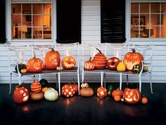 Creepy Carved Pumpkins to light up your porch