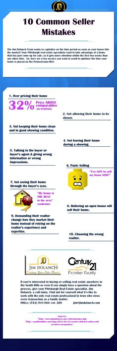 10 Common Seller Mistakes #PittsburghRealEstate