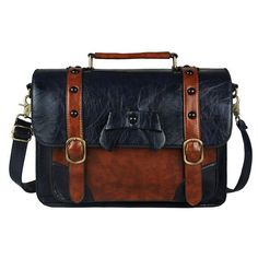 Ecosusi 2017 New Stylish Women PU Leather Bag Casual Women Messenger Bags Vintage Leather Handbag Girl's School Satchel Bag