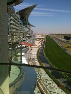 View on the race track from our course location at Dubai Meydan Hotel