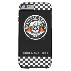 Chef Skull iPhone 6 case: Culinary Genius -Visit www.zazzle.com/thechefshoppe to see more cool culinary themed skulls on tons of products from Zazzle.