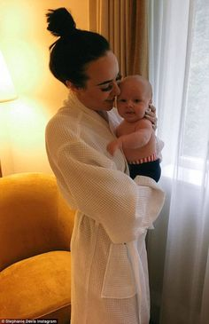 What's going on? Stephanie Davis posted a worryingly incoherent 'cheat' tweet while on holiday with Jeremy McConnell on Wednesday night... just a day after revealing they want baby number two (stock photo)
