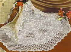 Филейное вязание салфеток.