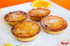 Orange-flavored Portuguese tarts